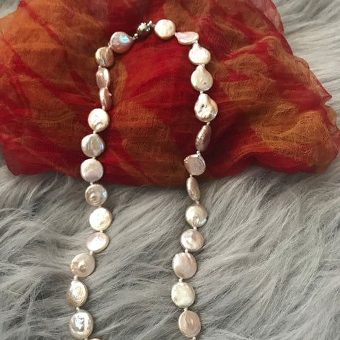 Image of River Botton pearl earrings necklace bracelet set