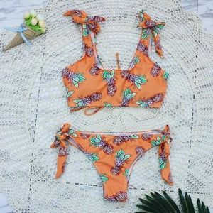 Copy of New Beach Halter Bikini Set High Neck Bathing Suit