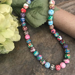 Load image into Gallery viewer, Polymer beads boho necklace - The Lotus Wave