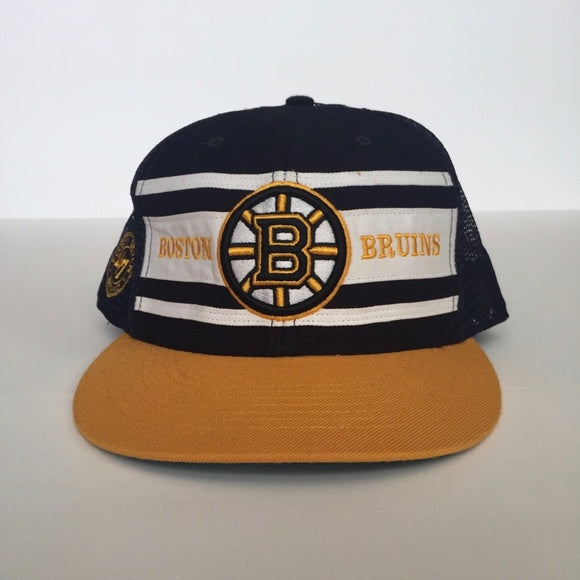 '47 Navy Blue/Gold Boston Bruins Snapback Hat