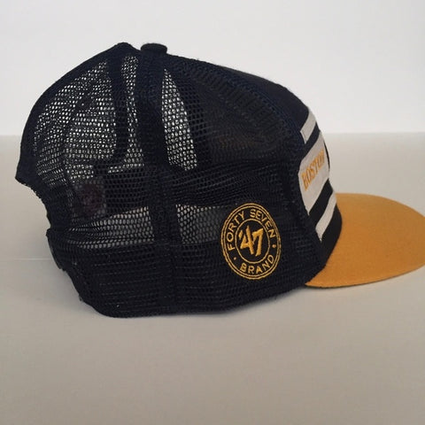 Image of '47 Navy Blue/Gold Boston Bruins Snapback Hat