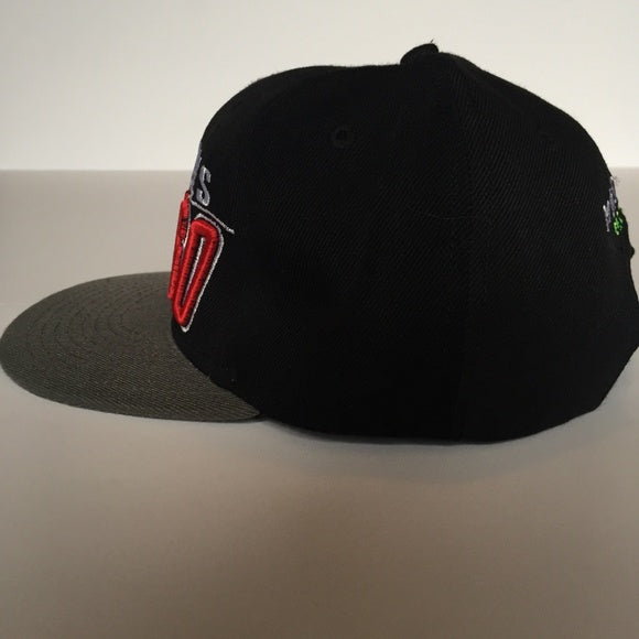 Black/Red/Grey Snapback Chicago Bulls Hat