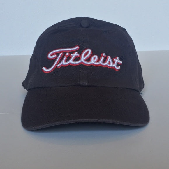 Grey with red white Titleist logo Golf Cap - The Lotus Wave