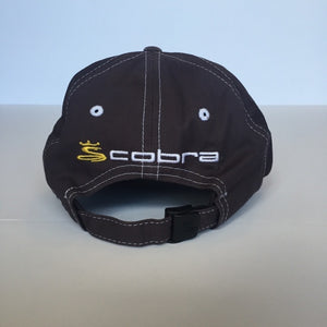 Grey with yellow white logo cotton Cobra Golf Cap - The Lotus Wave