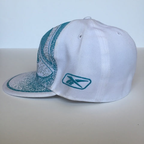 Image of white teal Reebok Sports Cap Athletic hat