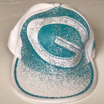 Load image into Gallery viewer, white teal Reebok Sports Cap Athletic hat - Stylish n Trendier