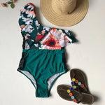 Load image into Gallery viewer, one piece off shoulder ruffled floral swimsuit - Stylish n Trendier