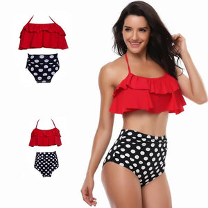 Matching Family Bathing Suits Mother Girl Bikini Swimsuit - Stylish n Trendier