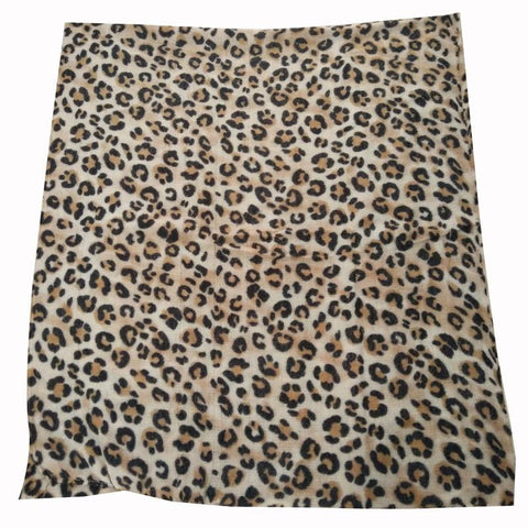 Image of animal leopard print winter warm  blanket scarf shawl dark color