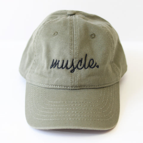 Muscle Army Green Dad Hat