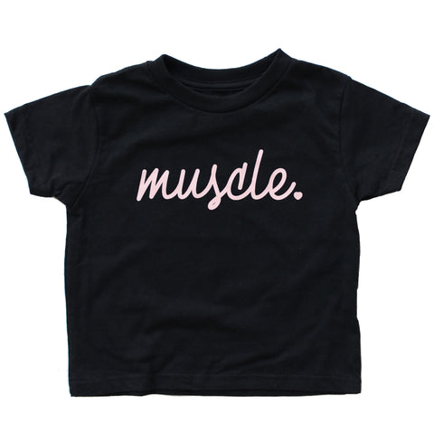 Muscle Kids Black Tee