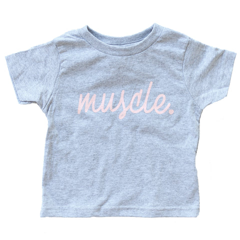 Muscle Kids Grey Tee