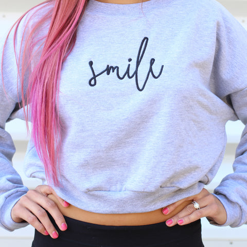 Smile Loose Crop Sweater