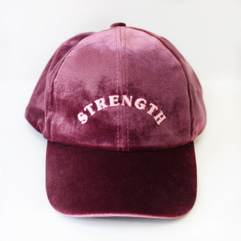 Strength Velvet Pink Hat