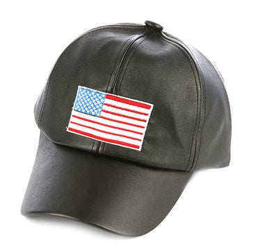 American is Bitchin Leather Cap