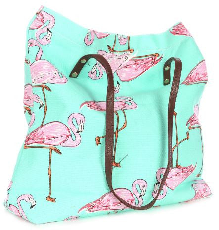 spring break flamingo bag