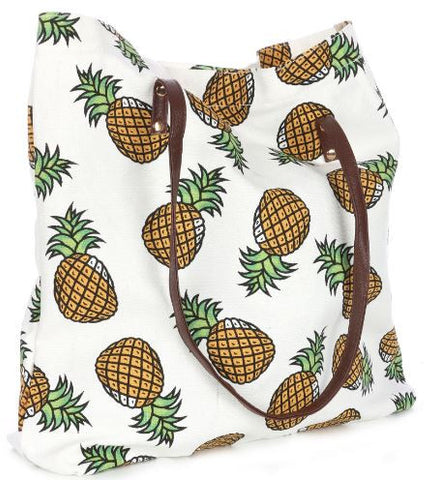 pineapple spring break tote