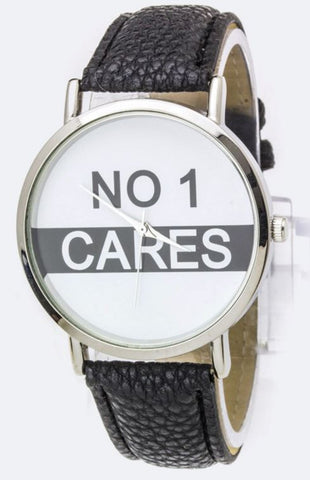 No One CARES Watch