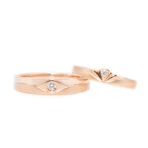 "18 carat rose-gold Signature ""Aegea"" wedding band set"