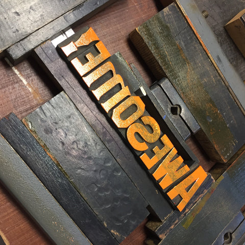 Letterpress is magical wood type, great inks, tactile and impression. Try it with us