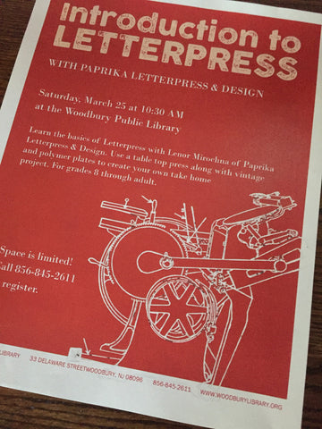 letterpress workshop poster