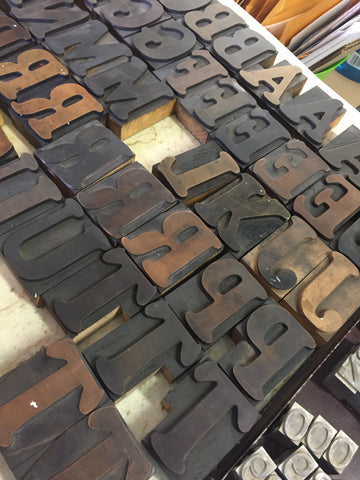 wood type paprika letterpress