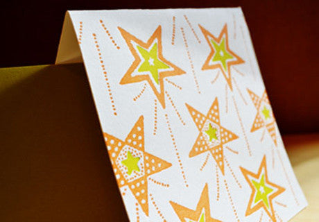 Happy Stars letterpress notecard