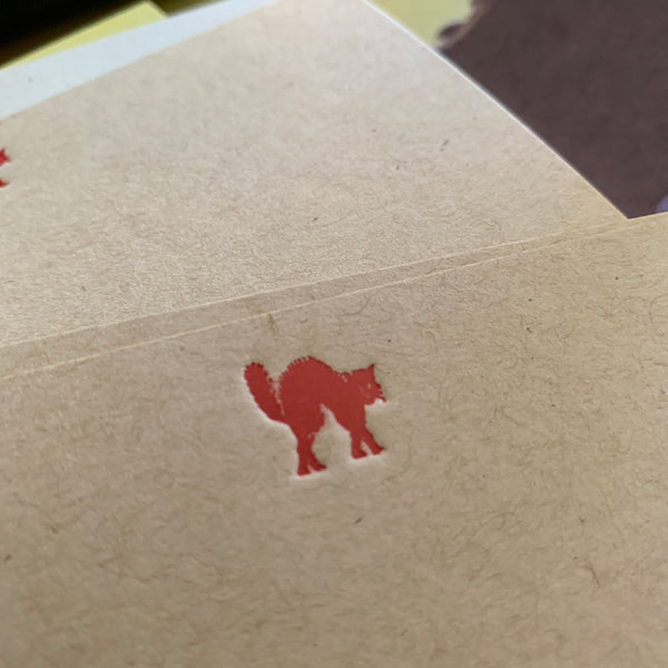 Meeeeowww!! cat couture foil stamped Notecards