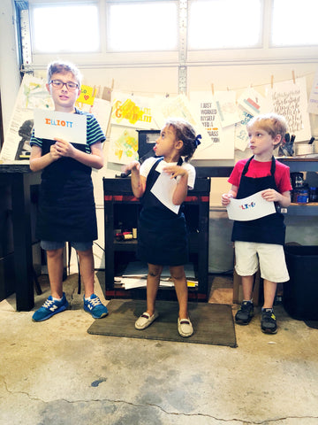 Children letterpress print workshop-