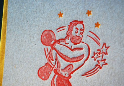 Cartoon Boxing Guy Print