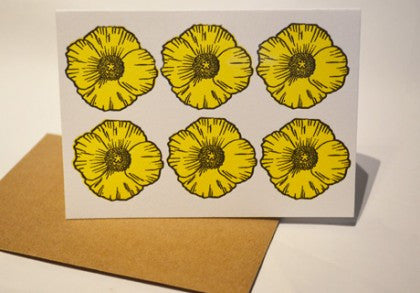 buttercup notecard