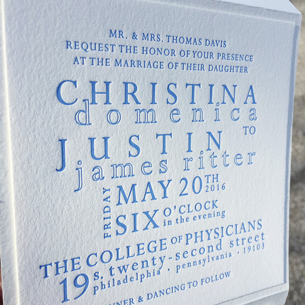 Elegant design, Contemporary typography, timeless design- perfect Wedding Invitation