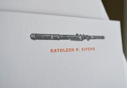 letterpress personal musical notecards