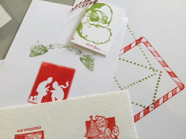 Create letterpress Holiday Cards!