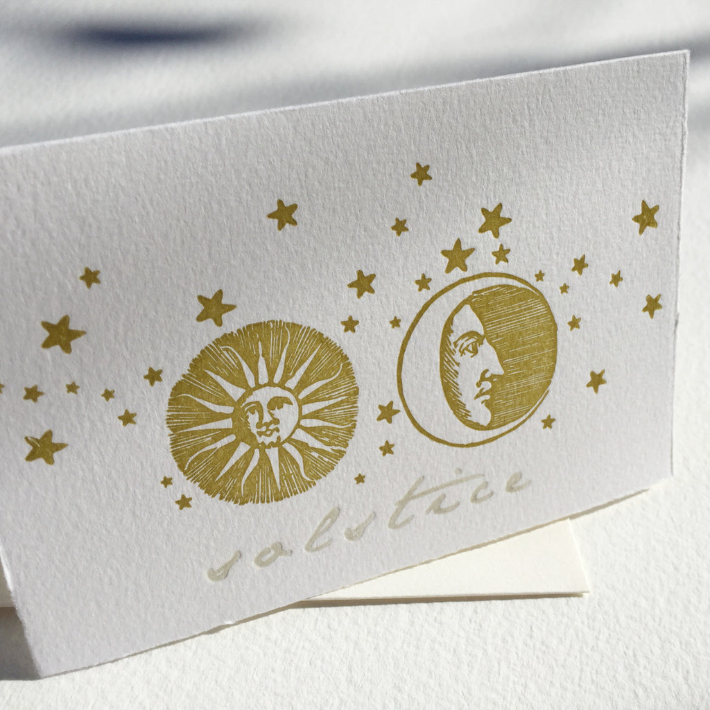 Solstice letterpress notecards