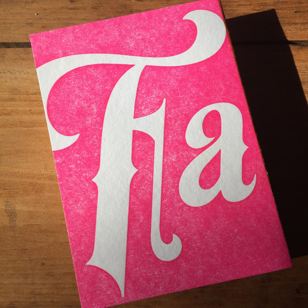 Fa La La La - letterpress Holiday Card