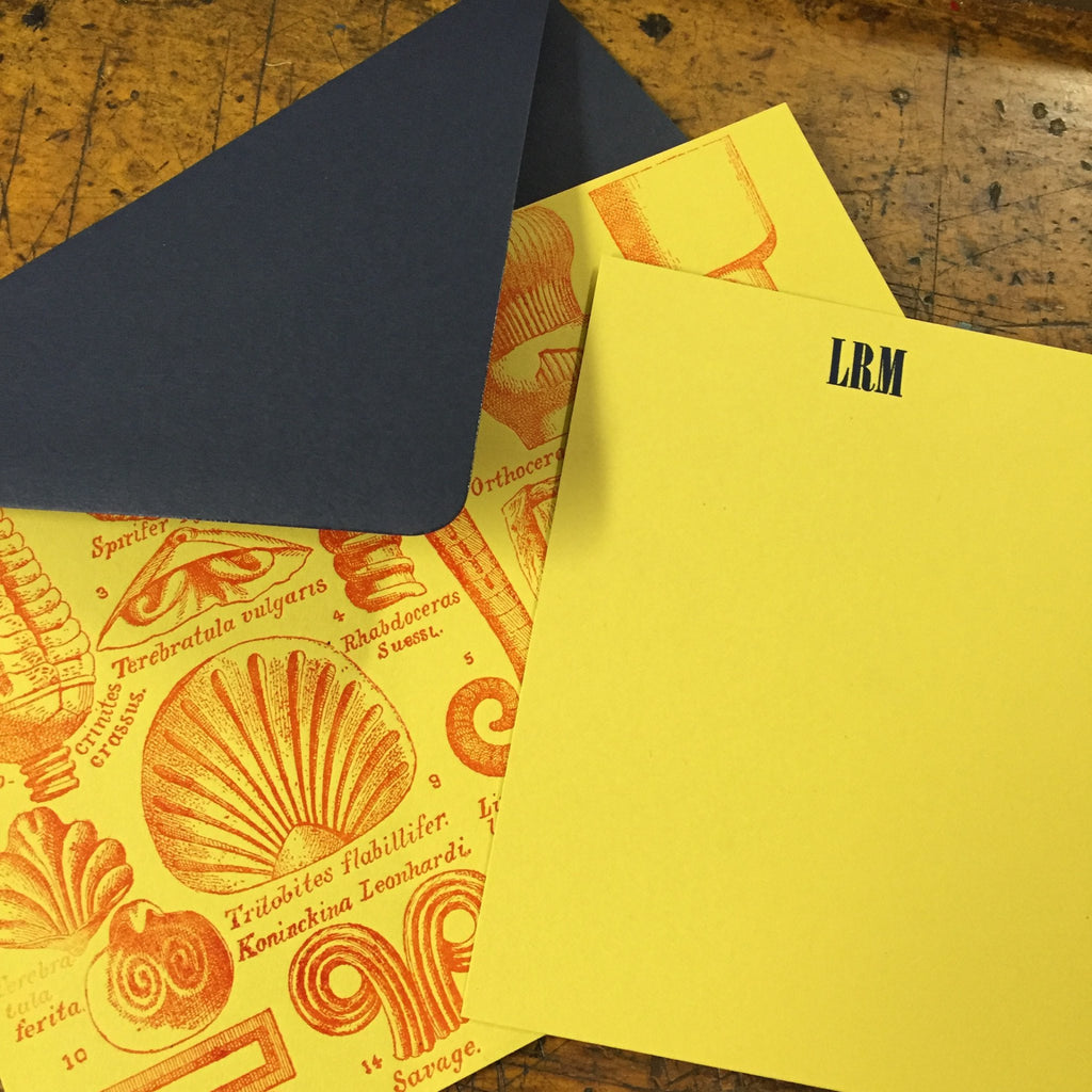 awesome personal letterpress notecards