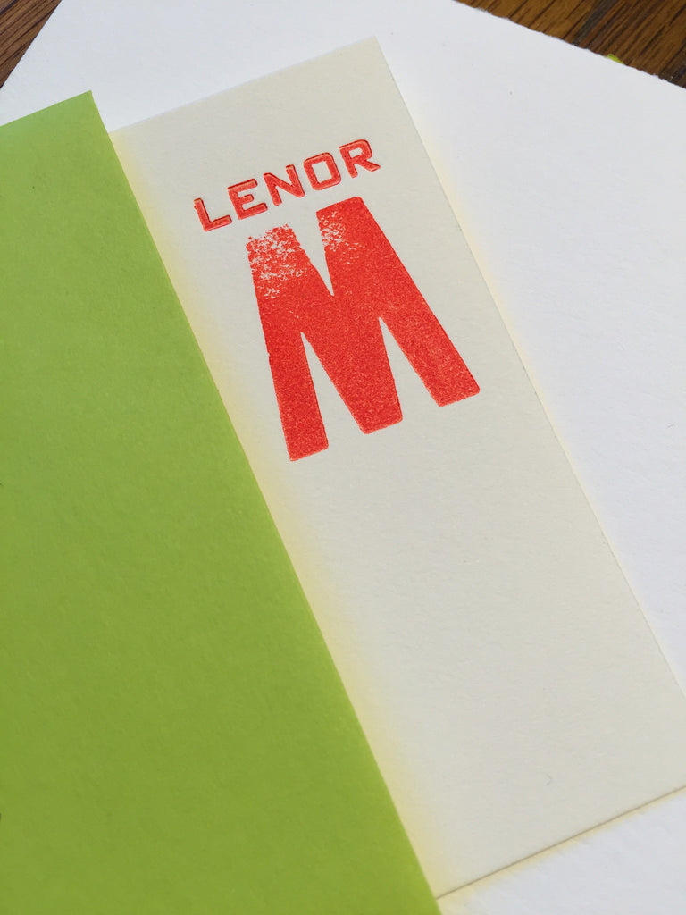 personal notecards letterpress by paprika letterpress
