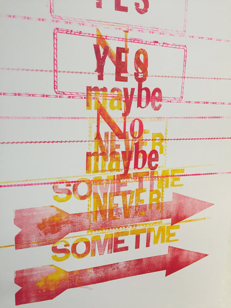 Creative letterpress Posters-Saturday, Jan 19, Feb 2, 14, Mar 16