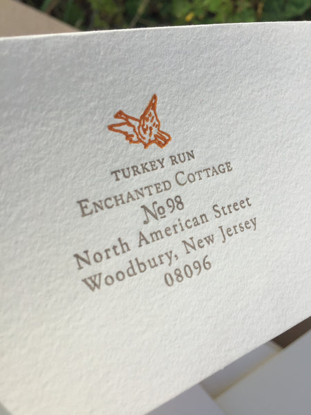 Turkey Run, Enchanted Cottage Personal Stationery