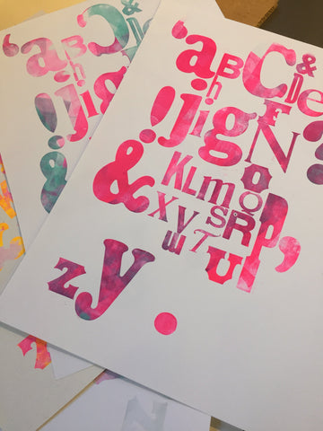 Children's letterpress print workshop [9:30-12:00]  Saturday, Nov 10