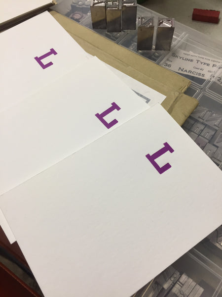 Letterpress Personal flat notes  Mon Oct 28, Nov 11, Dec 2