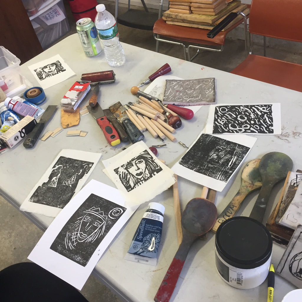 NEW with Artist Frances Crum! Woodcut and Linoleum block -  [2 part class] Jan 16 & 23, Feb 13 & 20, Mar 13 & 20