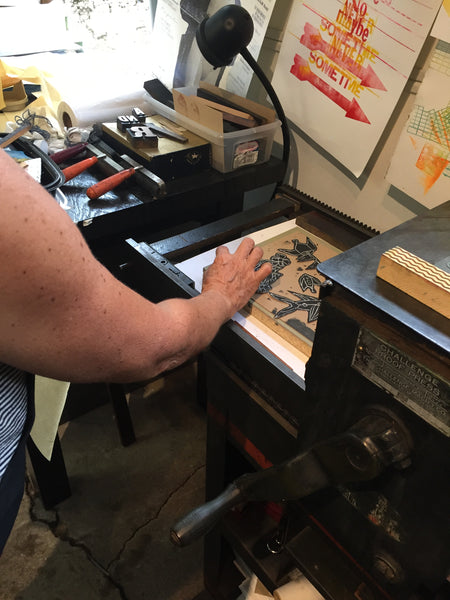 Back again by popular demand! November-Master printmaker Doris Rogers-Custom Creative Printmaking and letterpress