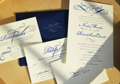 Wedding Invitation classically beautiful