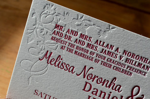 floral pattern wedding invitation_1