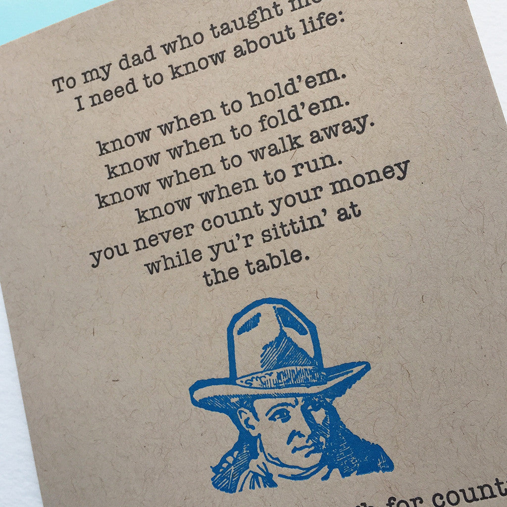 happy birthday to dad life lessons from a cowboy paprika letterpress