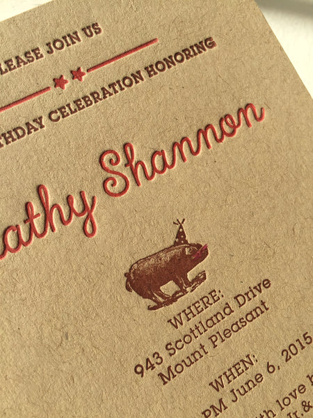 BBQ birthday invitation