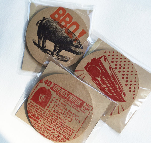Graphic Kraft Coasters