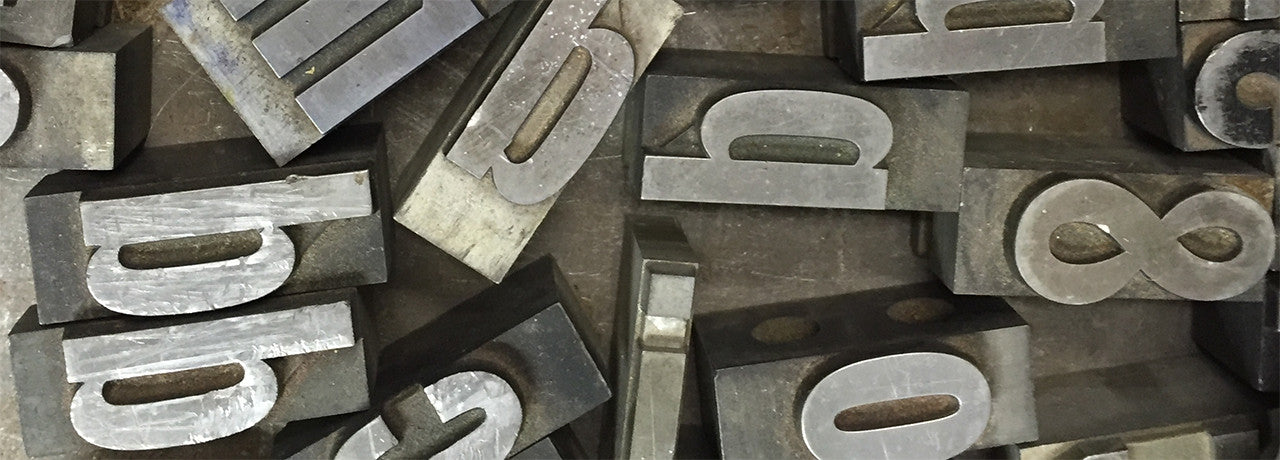 metal letterpress type
